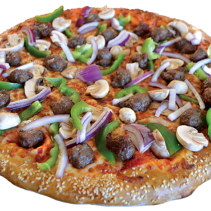 Pepperoni, Italian sausage, fresh mushrooms, onions, green peppers